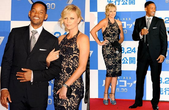 Photos of Will Smith and Charlize Theron at the Japan Premiere of Hancock