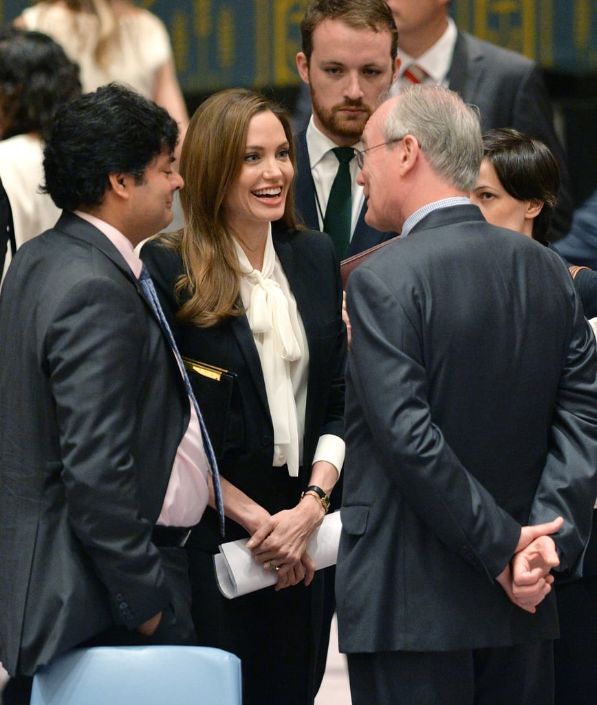 Angelina Jolie spoke to the United Nations Security Council at the UN's New York headquarters concerning war-zone rape.