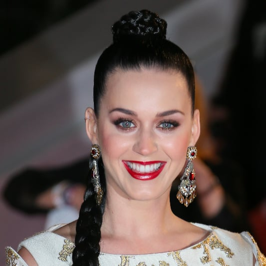 Katy Perry Braided Ponytail at NRJ Music Awards Red Carpet