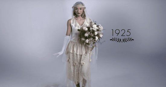 Watch 100 Years Of Wedding Dresses In 3 Minutes