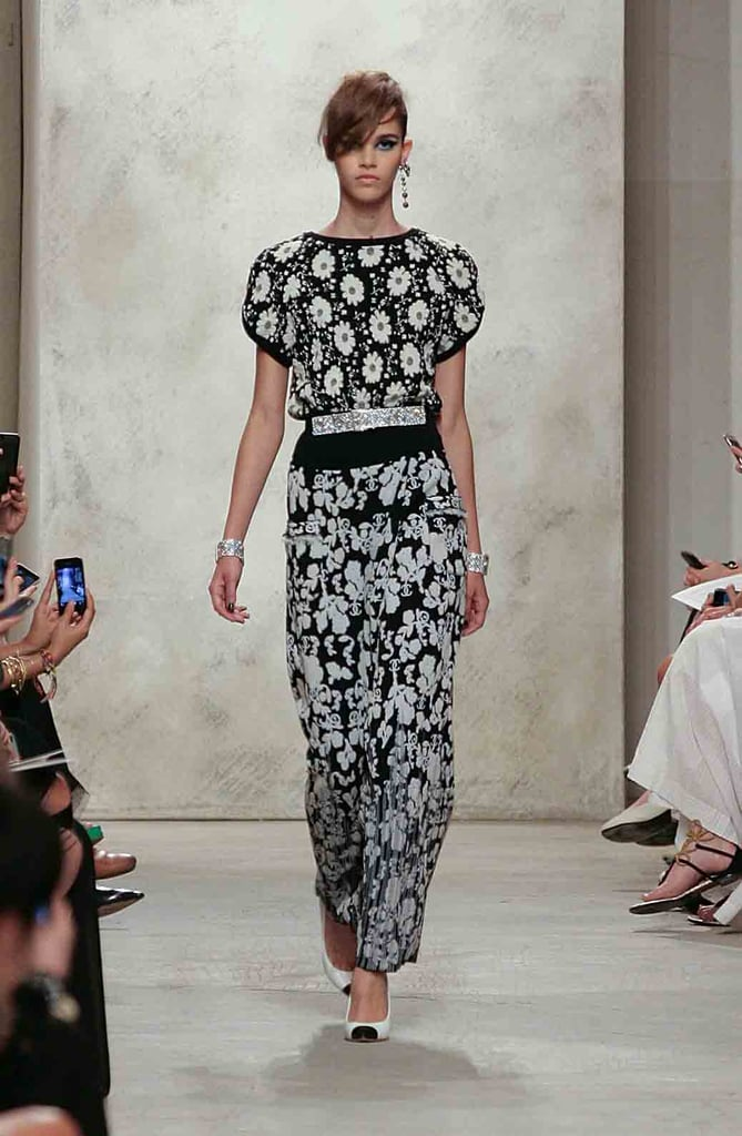 A Chanel show always calls for a dose of black and white, and this one was no exception. Styled together, separates in different prints felt fresh.