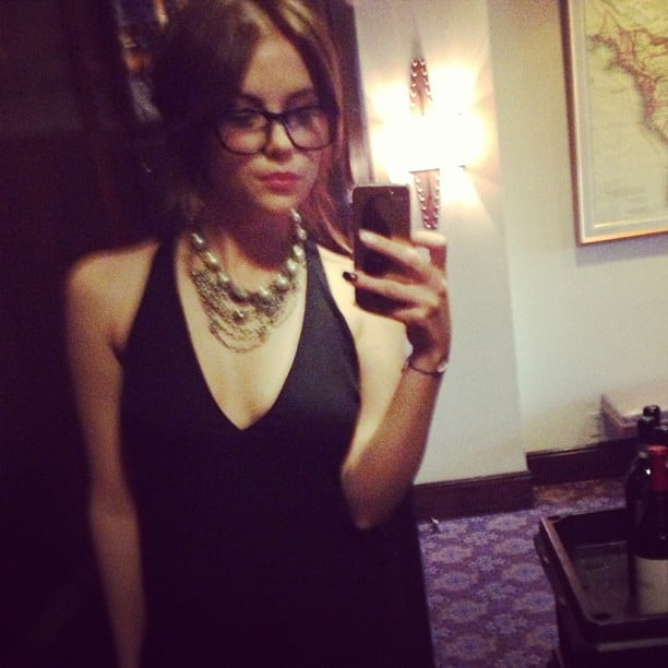 Ashley Benson captured a moment in February 2013 while wearing a slinky black dress.  Source: Instagram user itsashbenzo