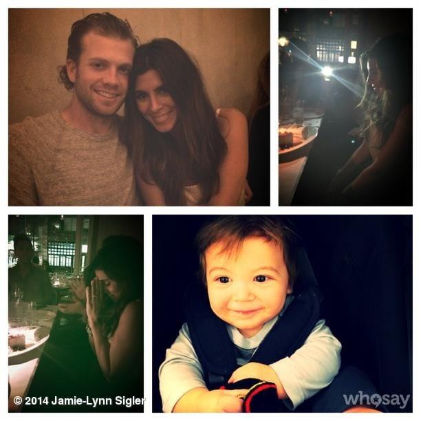 Jamie-Lynn Sigler celebrated her birthday with the loves of her life, including little Beau. Source: Instagram user jamielynnsigler