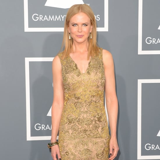 See Nicole Kidman Wear Gold Vera Wang at the 2013 Grammys