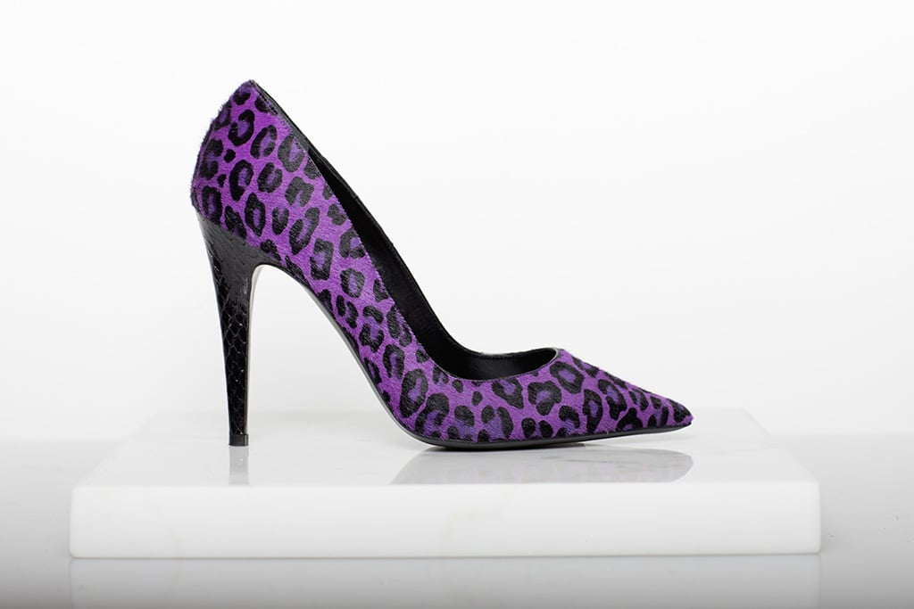 Addiction Pony Pump in Purple Leopard ($650) Photo courtesy of Tamara Mellon