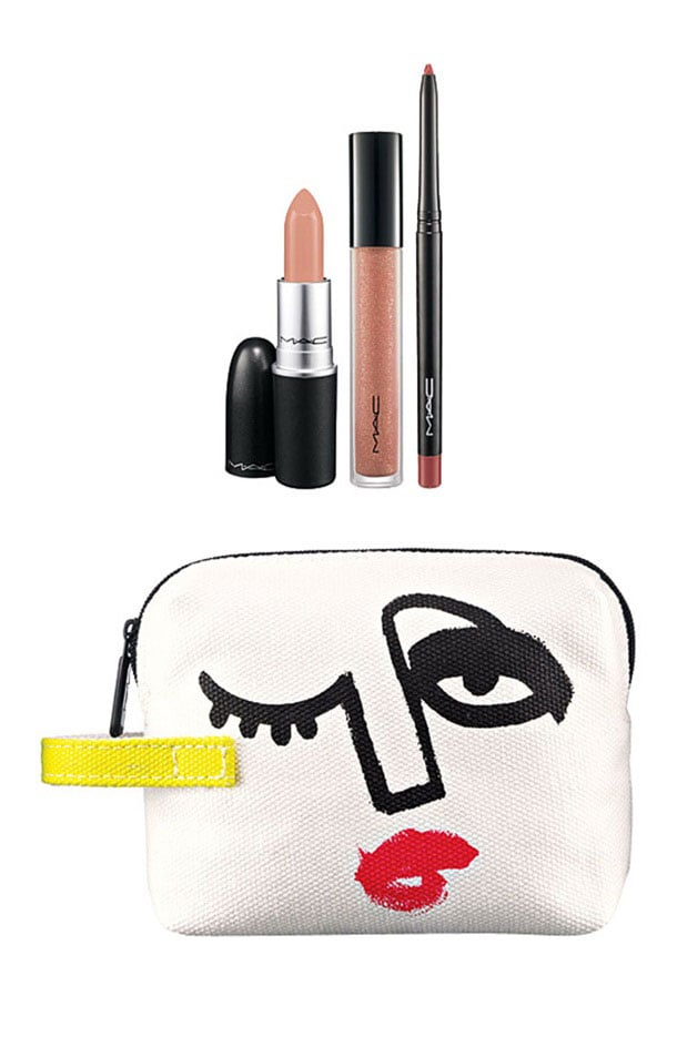 Triple Feature Lip Bag in Nude