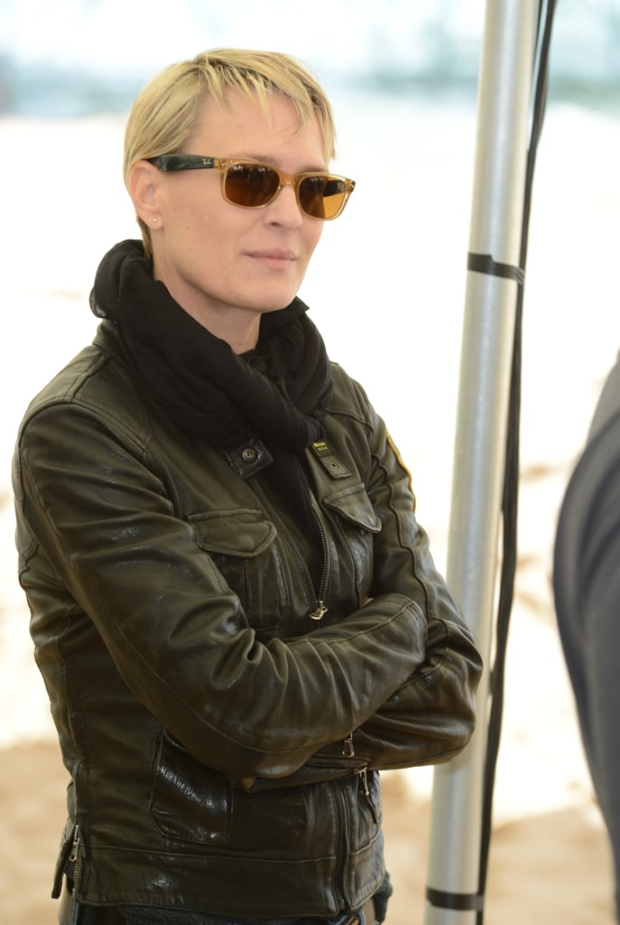 Robin Wright looked cool while visiting the photocall for The Congress on Friday.
