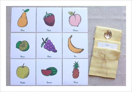 Fruit Table Numbers