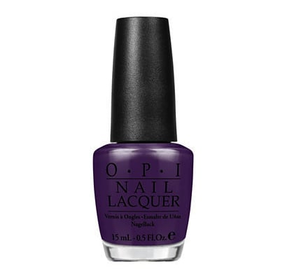 For glamorously gothic nails, OPI Vant to Bite my Neck ($9) is a beautiful rich dark purple. It would also work brilliantly on toenails.