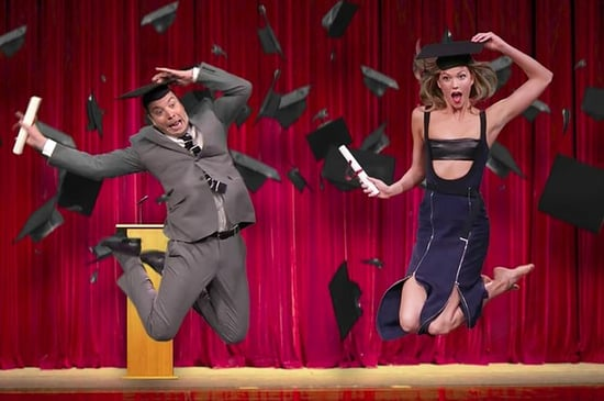 Karlie Kloss Tried To Teach Jimmy Fallon How To Pose And It's Hilarious