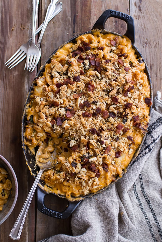 Butternut Squash Mac and Cheese With Bacon and Ritz Cracker Topping