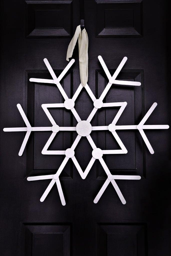 Hanging Craft Stick Snowflake