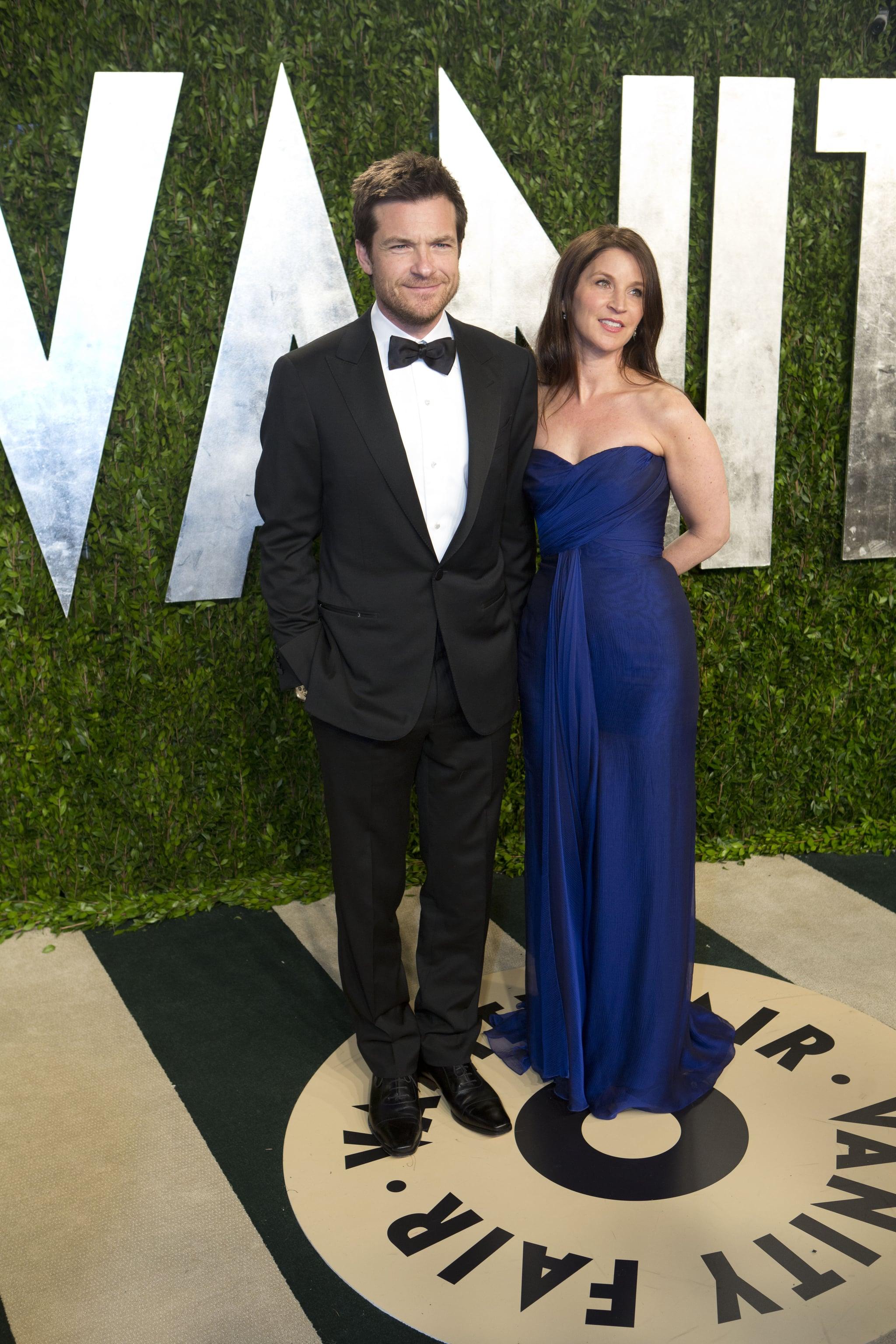 Jason Bateman and his wife, Amanda Anka, arrived at the Vanity Fair Oscar party on Sunday night.