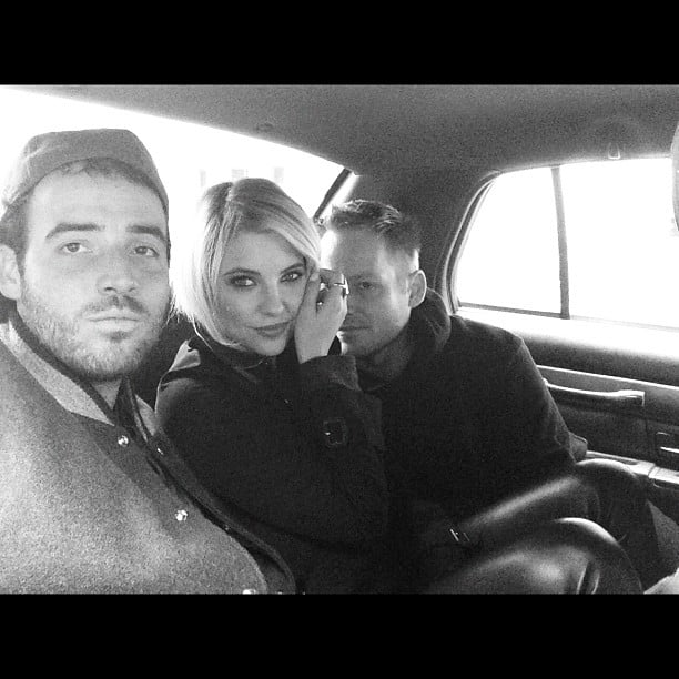 Ashley Benson took a ride with friends. Source: Instagram user itsashbenzo
