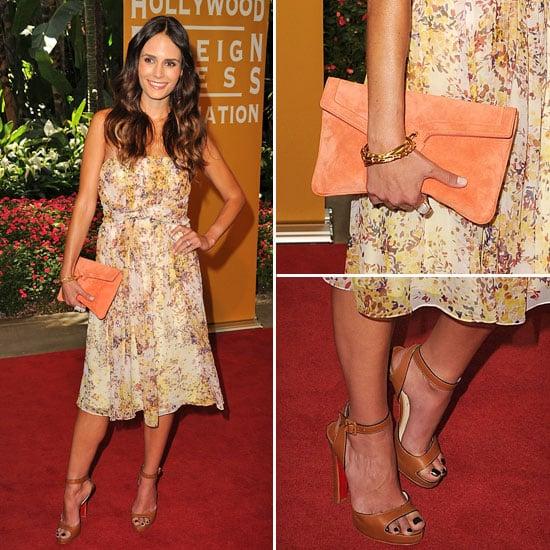 Jordana Brewster in Summery Max Mara Dress