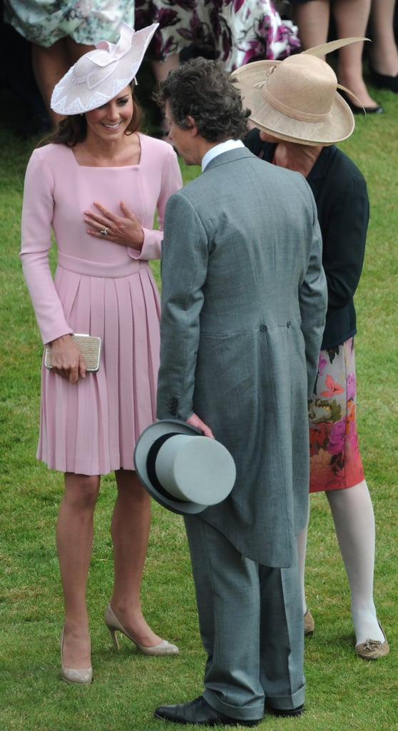 The second time, at the Queen's garden party