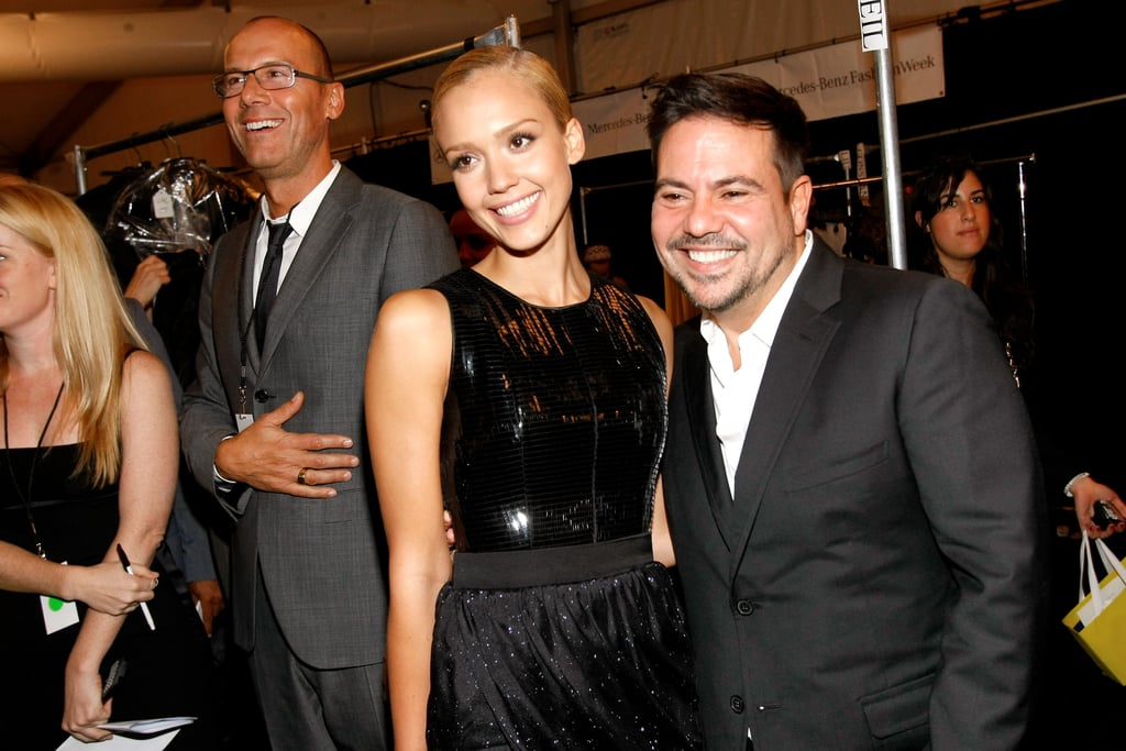 Jessica Alba and Narciso Rodriguez got together backstage after his Spring show in September 2009.