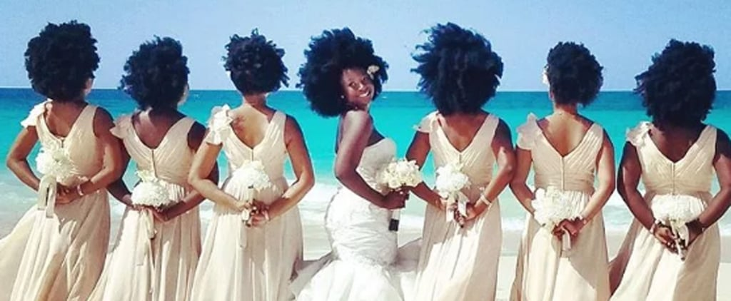 You'll Be Inspired by This Bride's Choice to Go Natural For Her Wedding Day