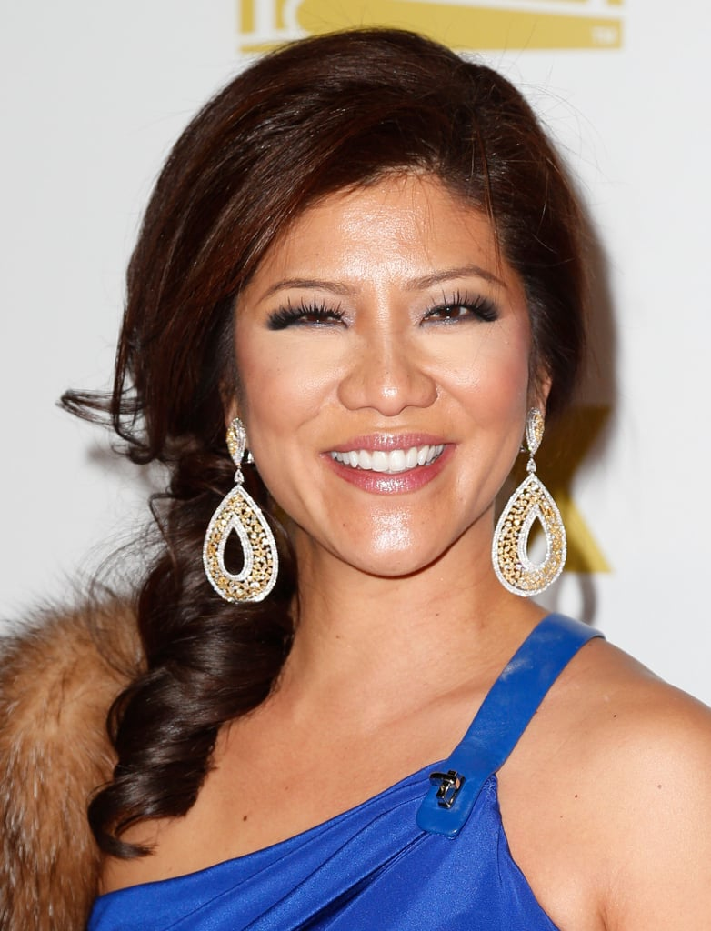 Julie Chen smiled for cameras at the Fox Golden Globe Awards party.