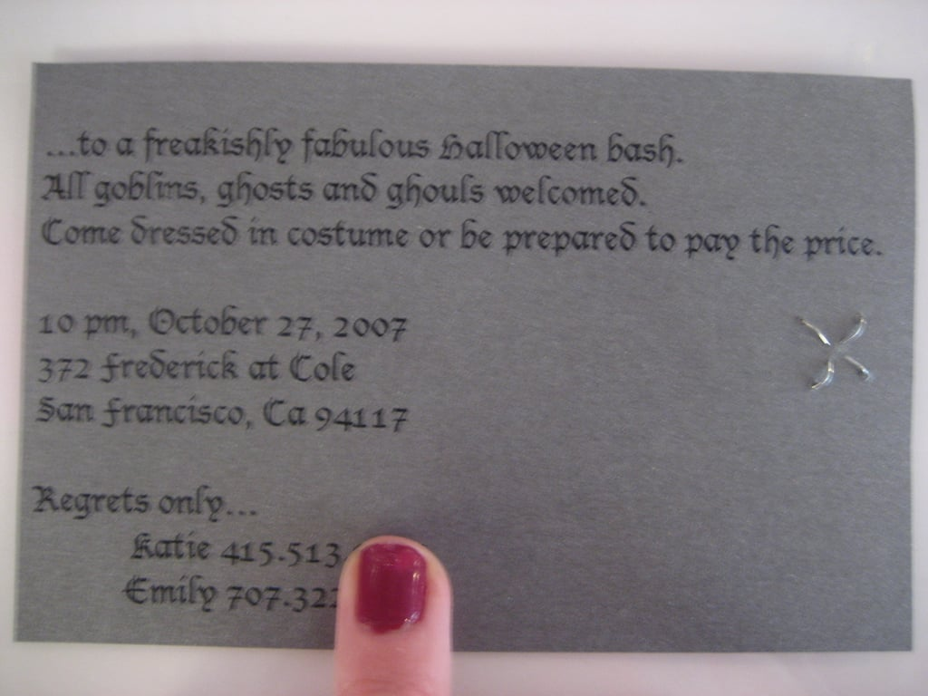 Come Party With Me: Halloween Bash — Invites