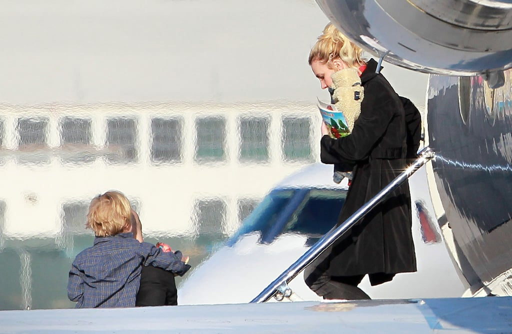 Jayden James Federline got a lift out of a plane with mom Britney Spears.