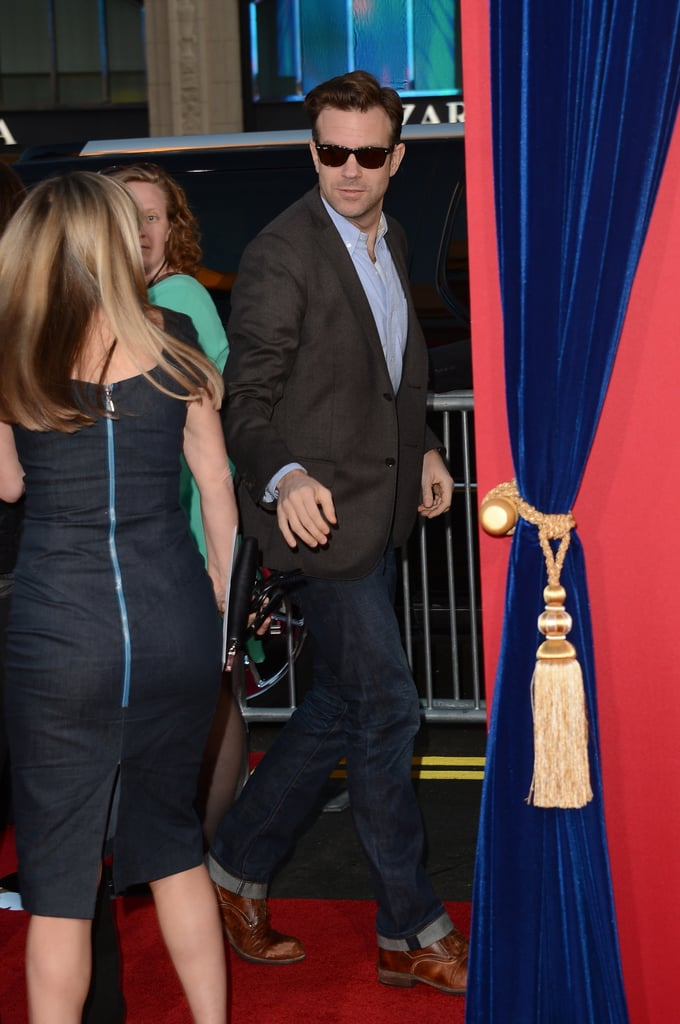 Jason Sudeikis bypassed the red carpet at the event.
