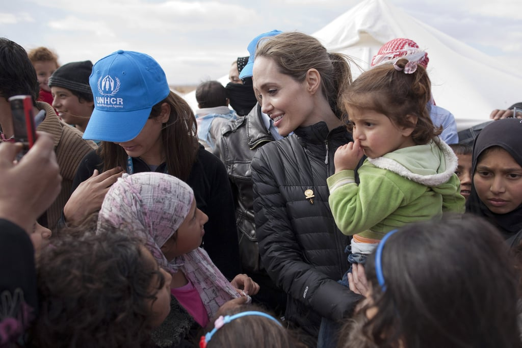 Angelina Jolie visited Jordan.