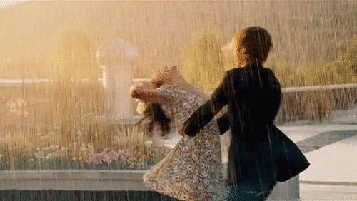 Especially when they danced and sang together in the rain.