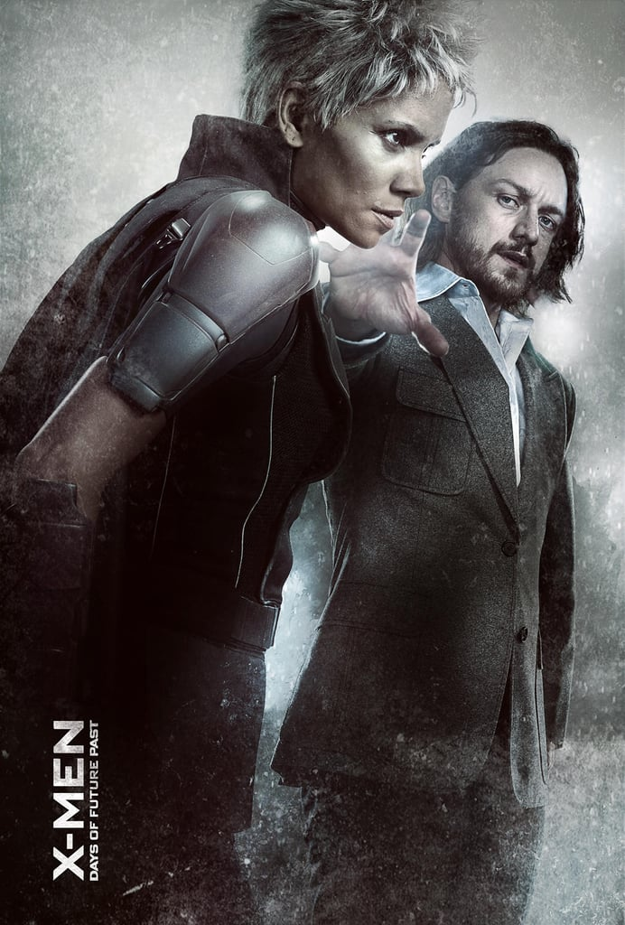 Halle Berry as Storm and James McAvoy as Charles Xavier.