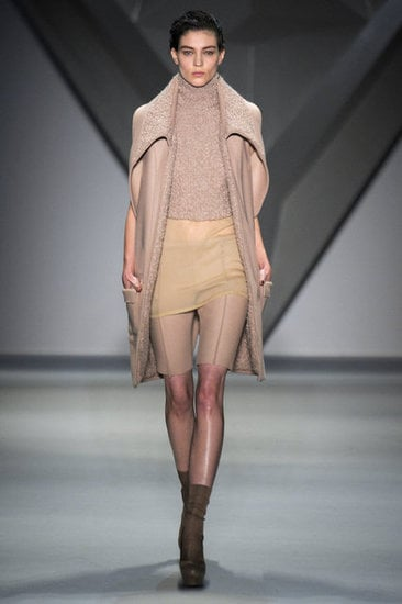 A beautiful, nude vest from Vera Wang.