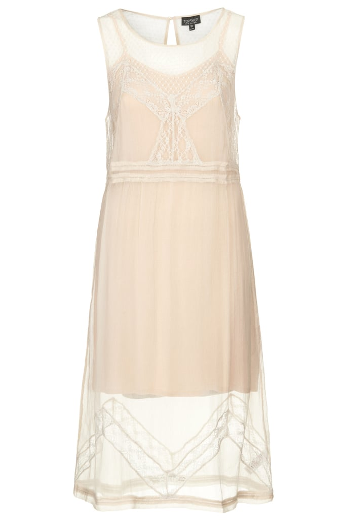A sheer-overlay LWD from the Topshop Festival Collection for Summer 2013, inspired by Kate Bosworth.