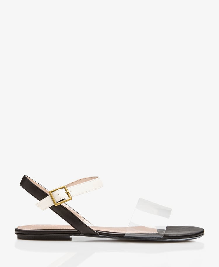The clear strap on this Forever 21 flat ($20) gives the illusion that nothing's there.