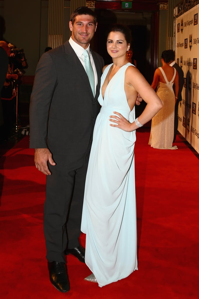 Dave and Ashlee Taylor posed on the red carpet.