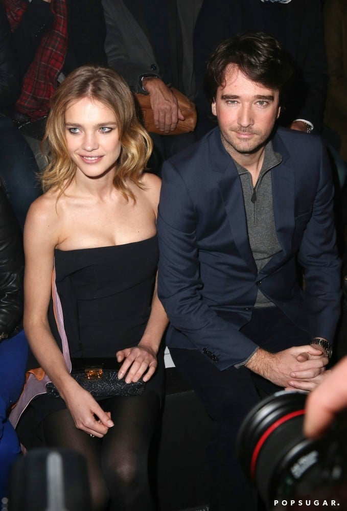Russian model Natalia Vodianova sat with Louis Vuitton's Antoine Arnault at the Etam lingerie show during Paris Fashion Week in February.