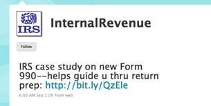 IRS Gets Twitter Account