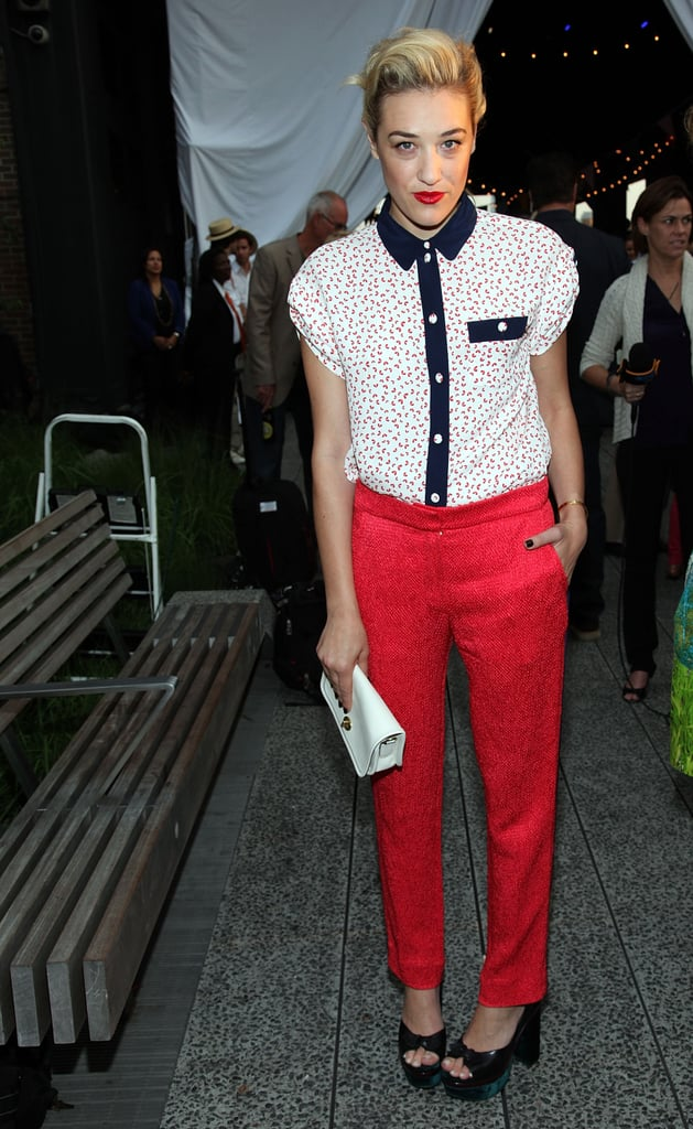 Mia Moretti posed at Coach's Summer Party on the High Line in NYC.