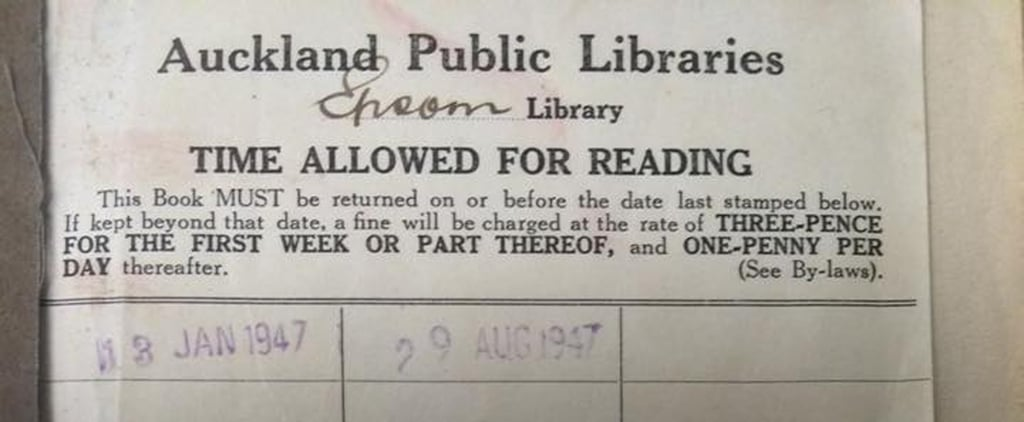 This Woman Finally Returned a Late Library Book . . . That Was Due in 1948