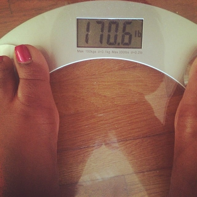 """After Stepping on the Scale, I Think, """"OK, I Start My Diet Today"""""""