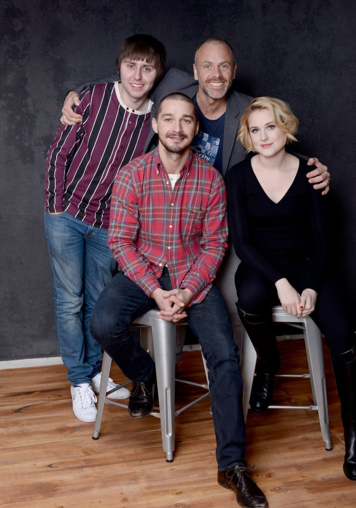The Necessary Death of Charlie Countryman star James Buckley, director Fredrik Bond, Shia LaBeouf and Evan Rachel Wood looked happy promoting the film together.