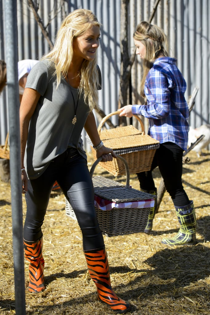 Ali and Belle get their hands dirty.