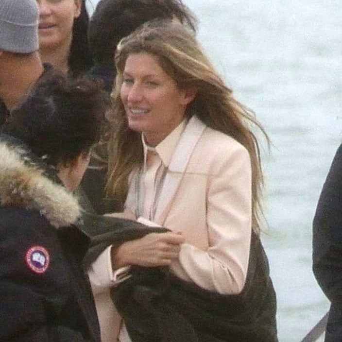 Gisele Bundchen at a photoshoot in Spain.