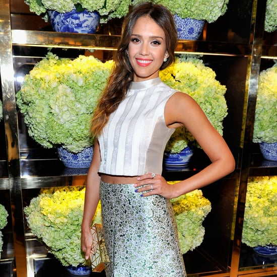 Jessica Alba at the Tory Burch Party   Video