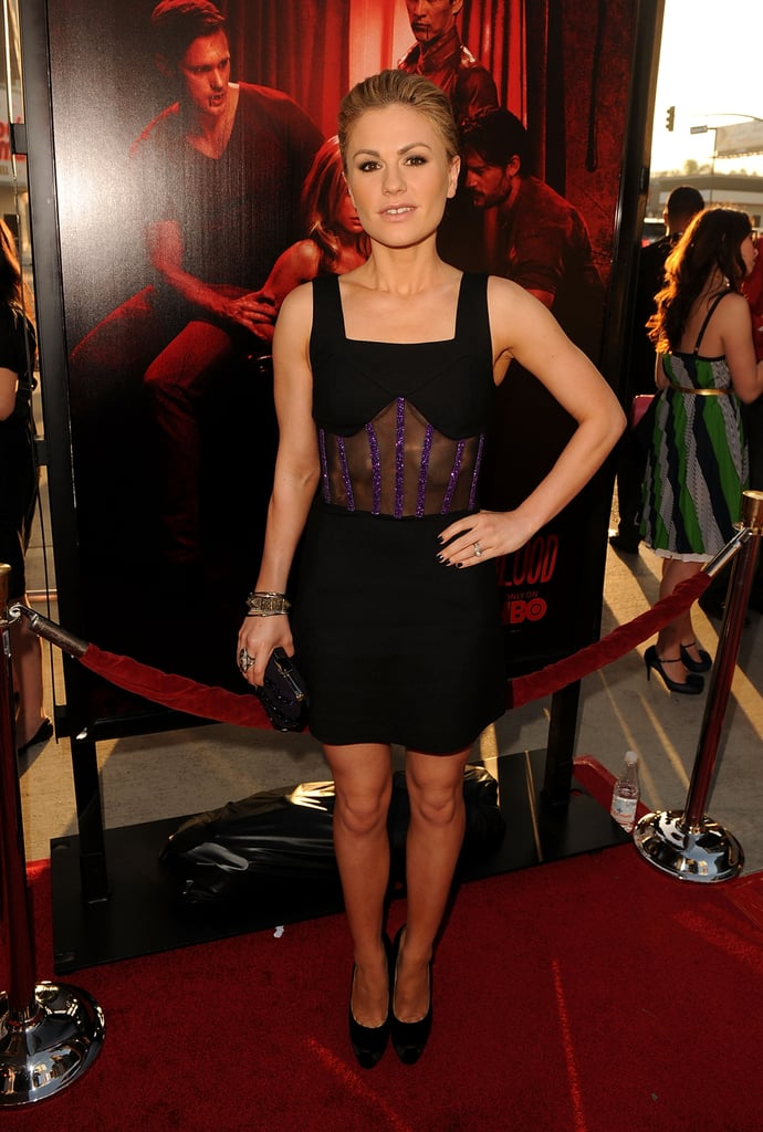 Anna Paquin showed a peek of skin at the True Blood season four celebration.