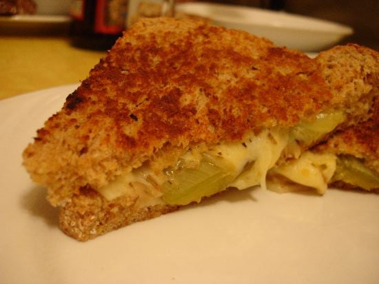 'Wich of the Week: Grilled Gruyere With Braised Leeks