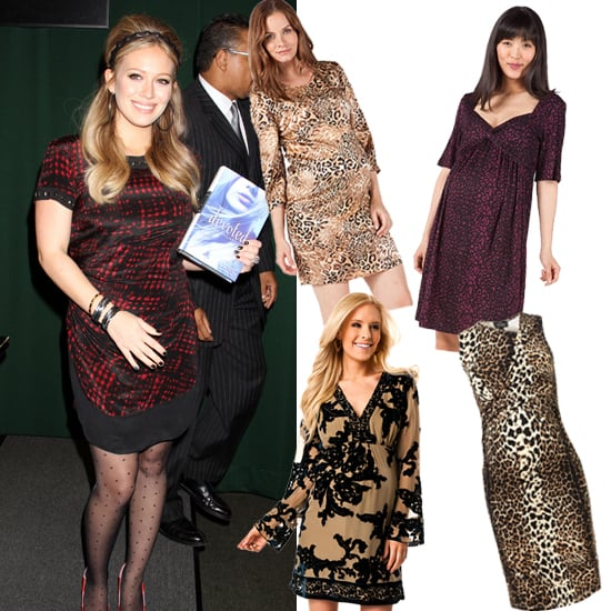 Hilary Duff's Patterned Dress