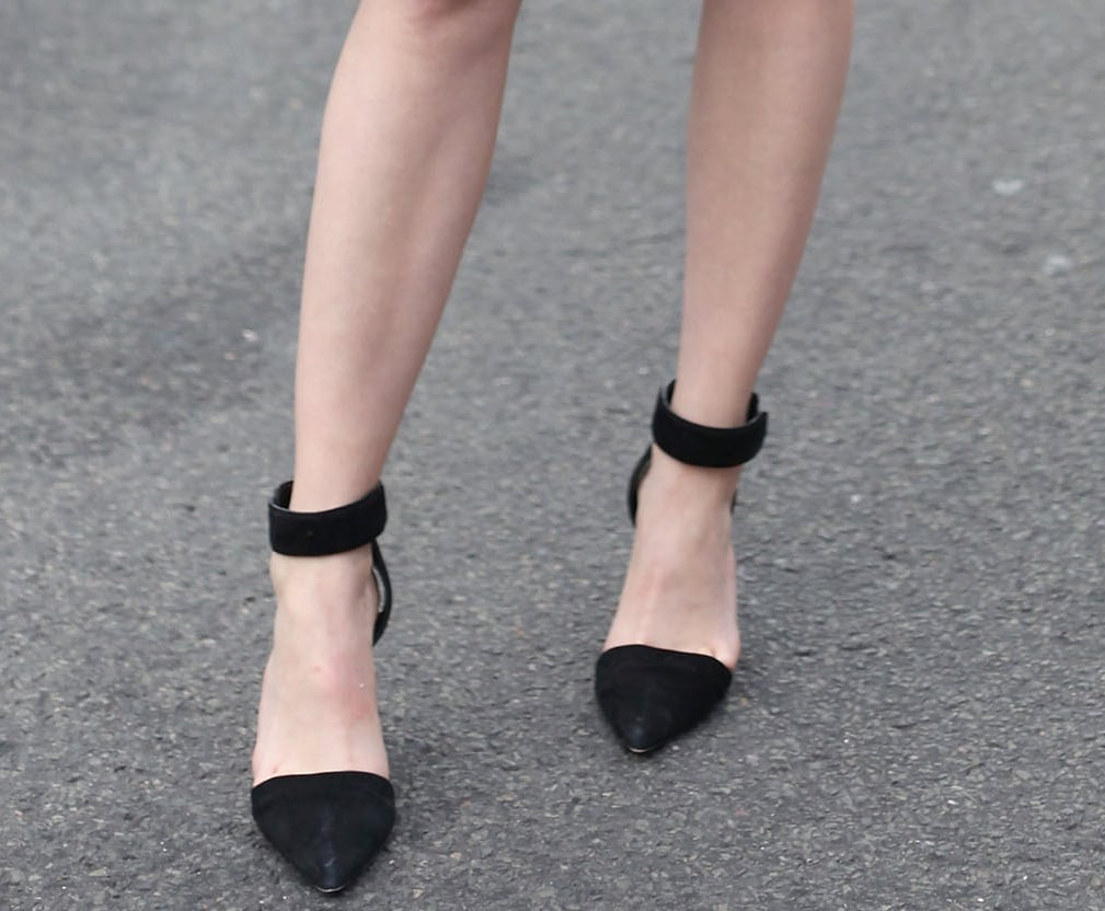 These ankle-strap heels are the perfect silhouette for all outfits and occasions. From minidresses to off-duty denim looks, we think this shoe is a must have.