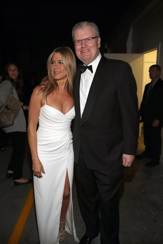 Jennifer Aniston got together with Howard Stringer at the AFI Life Achievement Award dinner honouring Shirley MacLaine in LA.