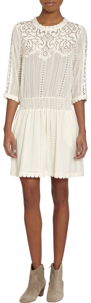 White dresses are my thing, and now that snow's become a constant part of the day-to-day landscape, I'm craving the summery staple like never before. This Sea resort dress ($498) just became available to shop, and I'd wear it with black tights now and segue into bare legs as soon as weather permits. — LM