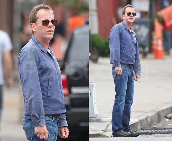 Pictures of Kiefer Sutherland Beardless After Lunch With Girlfriend Siobhan Bonnouvrier