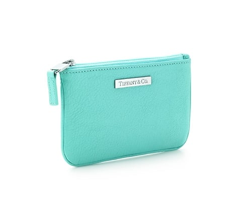 The perfect coin purse ($100), in traditional Tiffany blue.